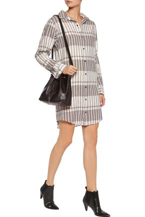 CURRENT/ELLIOTT The Prep School linen and cotton-blend shirt dress