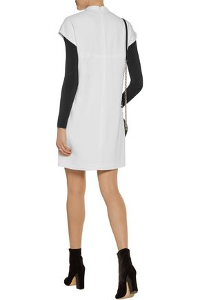 STELLA McCARTNEY Deborah embroidered tulle-paneled crepe mini dress