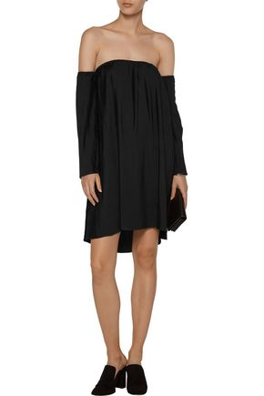 W118 by WALTER BAKER Yolanda off-the-shoulder plissé crepe mini dress