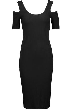 W118 by WALTER BAKER Cora cutout ribbed stretch-jersey dress