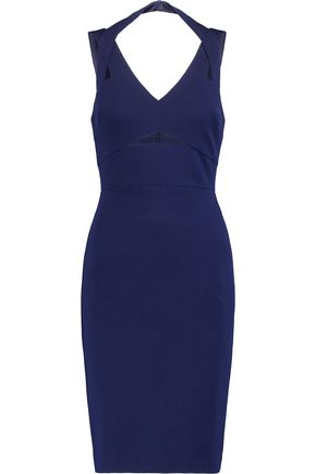 BAILEY 44 Cutout mesh-trimmed stretch-jersey dress