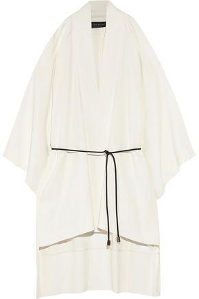 ROLAND MOURET Roche cutout stretch-crepe kimono jacket