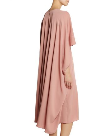 VALENTINO Cape-back silk dress