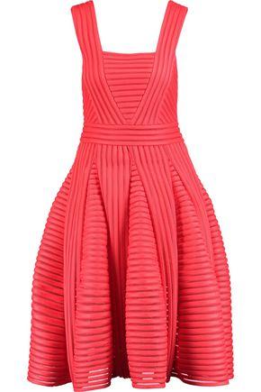 MAJE Rodez pleated ribbed-knit dress
