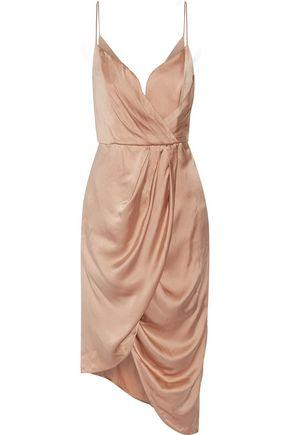 ZIMMERMANN Asymmetric draped silk midi dress