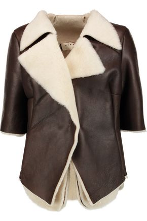 MARNI Draped shearling jacket