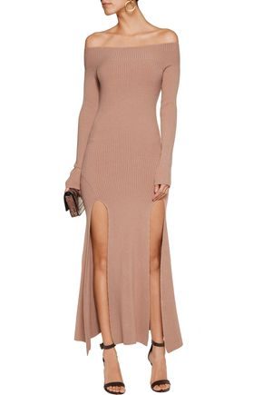 SEE BY CHLOÉ Off-the-shoulder stretch-knit midi dress
