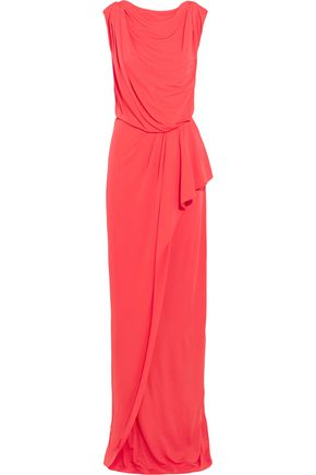 VIONNET Draped stetch-jersey maxi dress