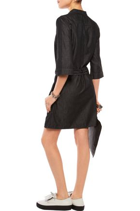 MARC BY MARC JACOBS Cotton and silk-blend chambray mini dress