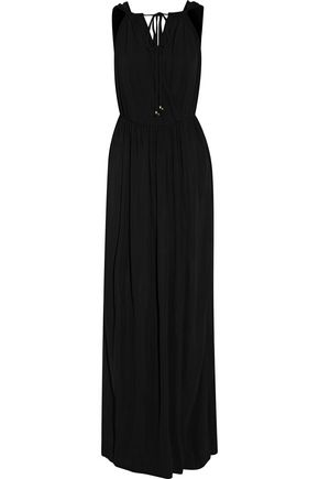 JUST CAVALLI Draped stretch-jersey gown