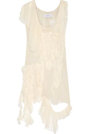 MARQUES ' ALMEIDA Ruffled silk-chiffon dress