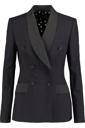 DOLCE & GABBANA Double-breasted wool-blend jacket