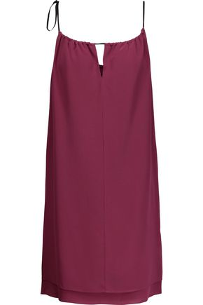RAG & BONE Samantha layered silk crepe de chine mini dress