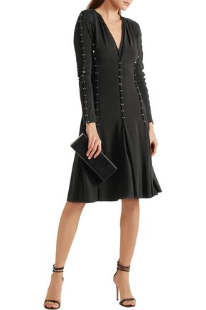 ANTONIO BERARDI Embellished stretch-jersey crepe dress