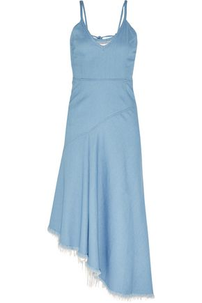 MARQUES ' ALMEIDA Asymmetric frayed denim dress