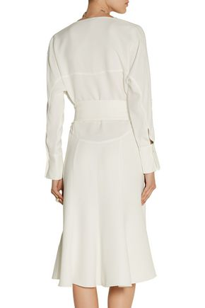 MAIYET Belted silk-crepe dress