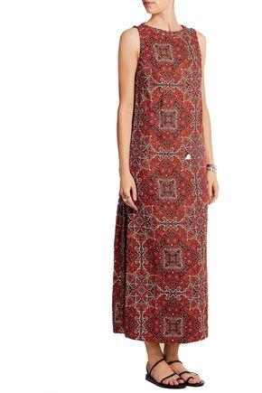 ZIMMERMANN Konya printed linen maxi dress