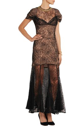 ALESSANDRA RICH Camelia Chantilly lace gown