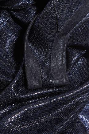 GOLDEN GOOSE DELUXE BRAND Alexis one-shoulder lamé mini dress