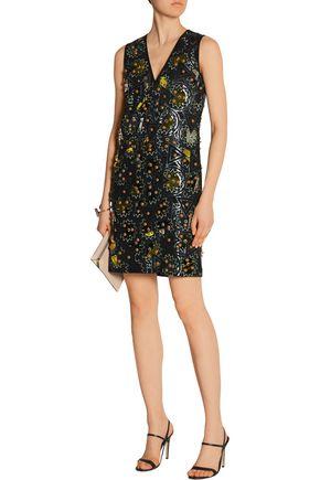 DKNY Embellished crepe dress