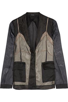 MAISON MARGIELA Layered silk-organza blazer