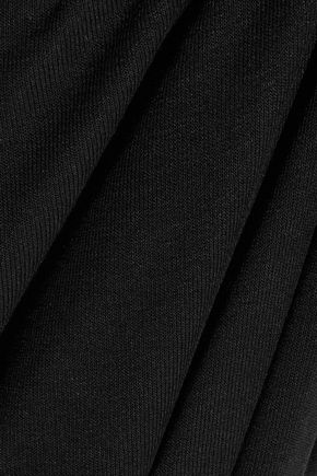 SPLENDID Draped-back stretch-jersey maxi dress