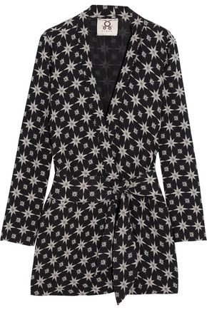 FIGUE Akila printed crepe jacket