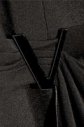 GIANNI VERSACE Layered crepe and stretch-jersey mini dress
