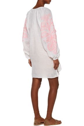 MARCH11 Garden embroidered linen mini dress