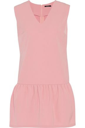 RAOUL Ryana stretch-crepe ruffled mini dress