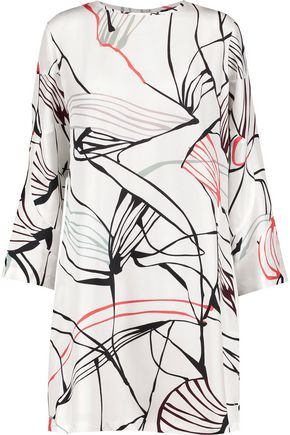 RAOUL Bonnie washed-silk mini dress