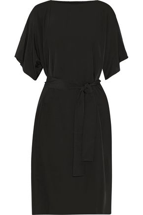 RAOUL Bonnie cutout crepe de chine midi dress