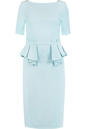 RAOUL Sloane cotton-blend twill peplum dress