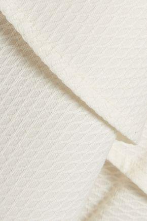 RAOUL Fleur ruffled cotton-blend matelassé mini dress