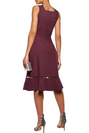 RAOUL Bow-embellished pleated crepe mini dress