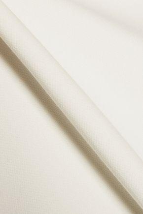 SANDRO Radical honecomb mesh paneled woven mini dress