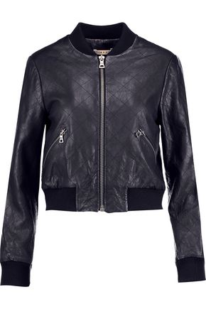 ALICE + OLIVIA Demia quilted leather jacket