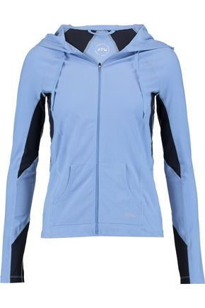 APL® ATHLETIC PROPULSION LABS Stretch-nylon hooded jacket