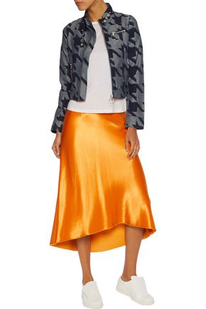 MARQUES ' ALMEIDA Cropped houndstooth denim jacket
