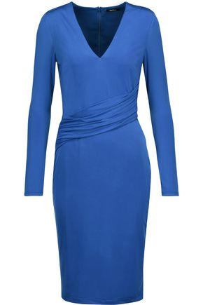 RAOUL Draped jersey dress