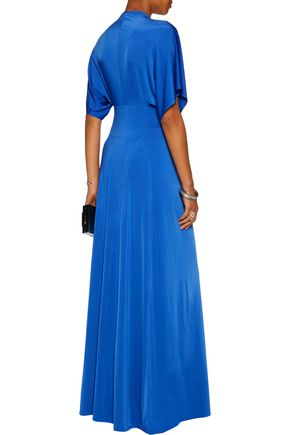 RAOUL Belted gathered stretch-jersey gown
