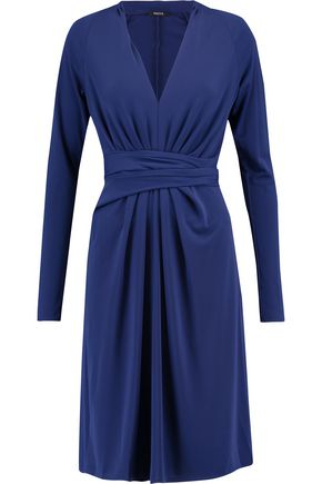 RAOUL Gathered stretch-twill dress