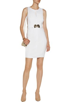 VERSACE JEANS Embellished jersey mini dress