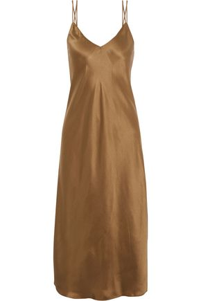 HELMUT LANG Draped silk-satin dress