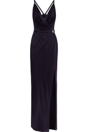 VERSACE COLLECTION Draped satin gown