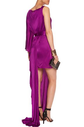 VERSACE COLLECTION One-shoulder asymmetric satin gown