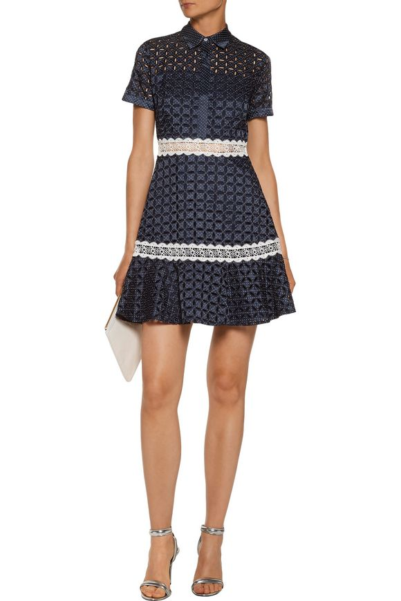 Jeremy polka-dot broderie anglaise twill mini dress | ALEXIS | Sale up to  70% off | THE OUTNET