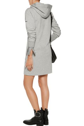 MARC BY MARC JACOBS Hooded cotton-blend jersey mini dress