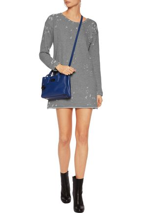 RTA Veronique distressed cotton-blend mini dress