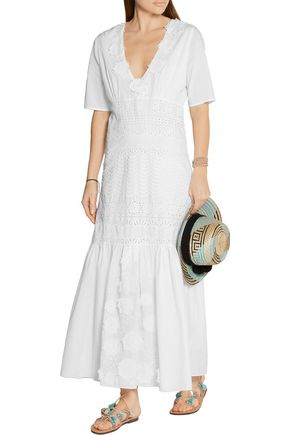 FIGUE Tia broderie anglaise cotton maxi dress